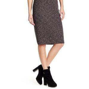 Max Studio Ribbed Marled Knit Skirt